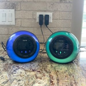 2 COLOR CHANGING iHOMES (gently used)